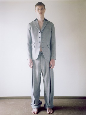 Wool Tailored Jacket × Wool Box Pants