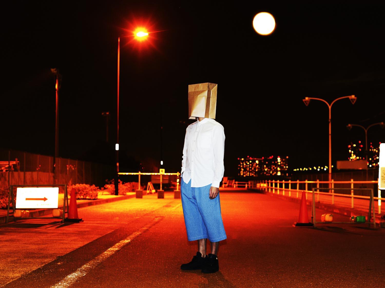 L/S Dot Shirt × Chambray Culotte Pants